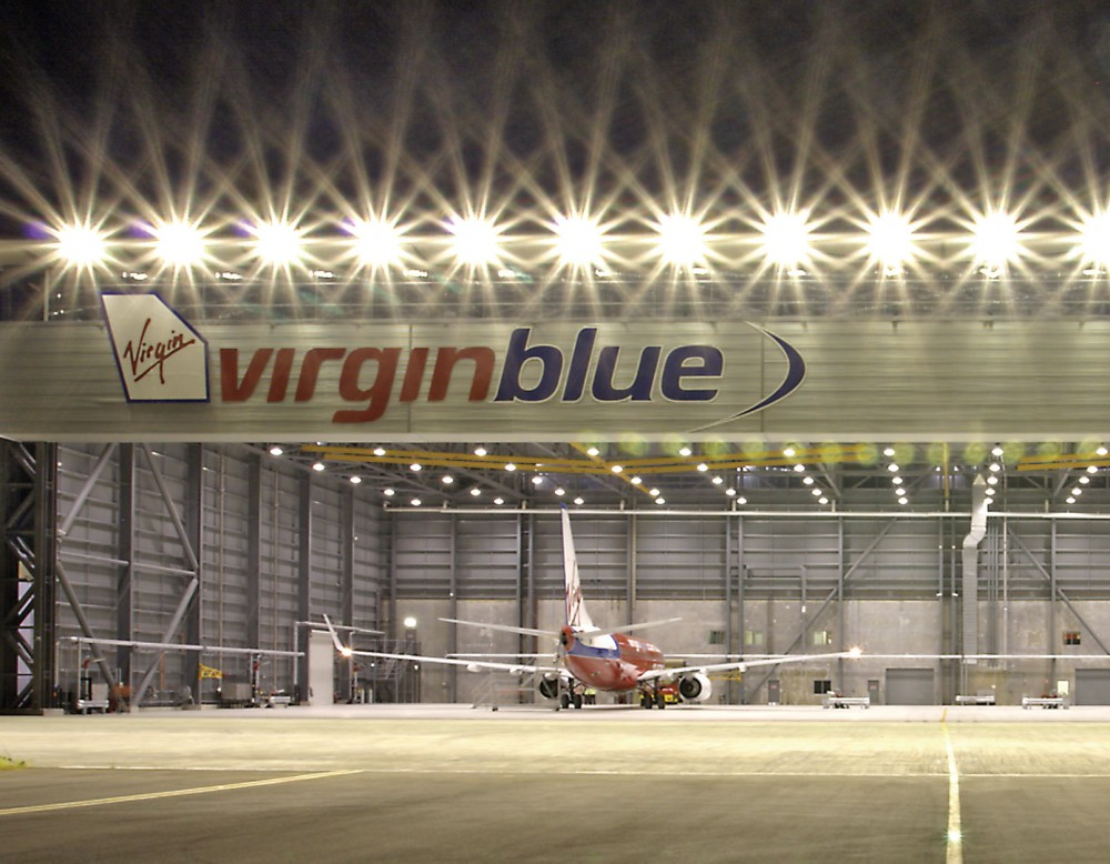 virgin maintenance hangar engineering project management brisbane meinhardt