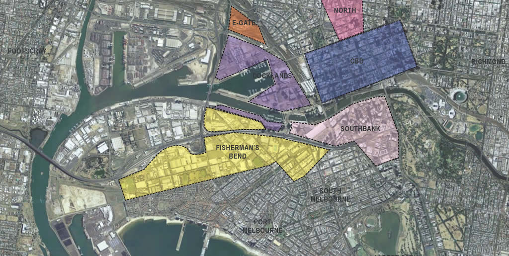 fishermans bend area plan