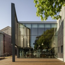 Williamstown Library glass facade